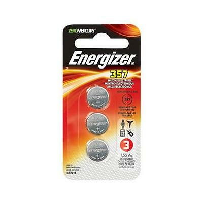 12 Energizer 357 Watch/Electronic Batteries- 4 packs of 3 = 12 EA batteries