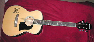 Budweiser True Music Advertising Aria Acoustic Guitar MADE IN USA