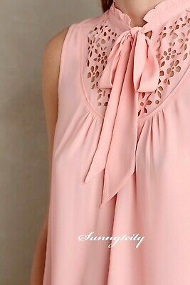 NWT Anthropologie Luca Tie-Neck Blouse by Maeve, Adorable Sophisticated Sizes