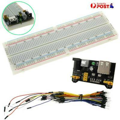 MB-102 830 Points Solderless PCB Breadboard & Power Supply & 65x Jump Cable Wire