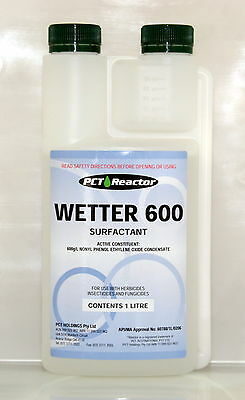 REACTOR WETTER 600 SURFACTANT / WETTING AGENT 1 Litre (equiv. Agral)