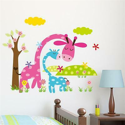 Cute Cartoon Animal Forest Wall Sticker for Nursery Room | Children Home Decor