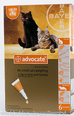 Advocate for Cats and Kittens up to 4kg 6pk (Advantage Multi)