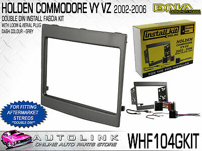Dna Holden Commodore Vy-Vz Double Din Install Kit With Grey Fascia & Wiring Loom