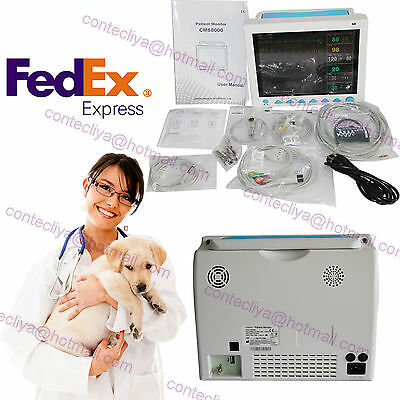 Fedex Veterinary VET Portable Patient Monitor machine SPO2/NIBP/ECG/TEMP/PR/RESP