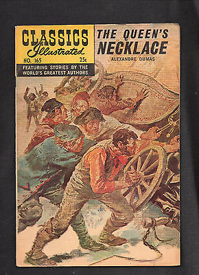 Classics Illustrated #165 Vg/vg+   Hrn166 (The Queen's Necklace) Alexandre Dumas