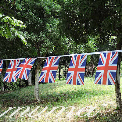 Queens 90th Birthday Massive 100ft Union Jack Bunting Flags UK GB Celebrations