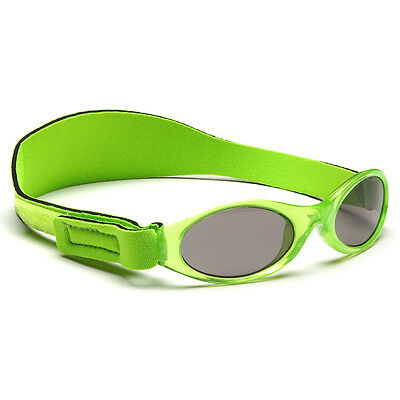 Kids Sunglasses Girls Children Protection Shades Kidz Banz Lime Green 2-5yrs