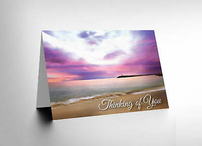 Card Greeting Sympathy Bereavement Landscape Sea Gift Cl1723
