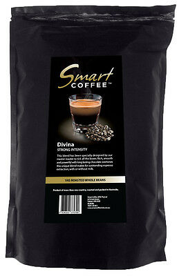 Smart Coffee Divina beans (1kg) Whole Roasted Coffee - Strong Intensity
