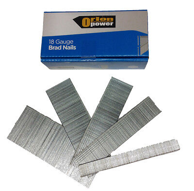 5000xOrion Brad Nails (15mm/25mm/32mm/35mm/38mm/40mm/50mm) 18 Gauge Galvanised