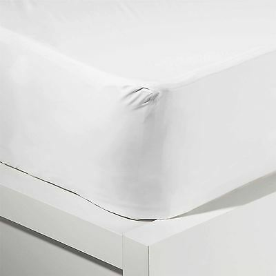 Single or Double Size Fitted Mattress Protector Sheet Washable Water Resistant