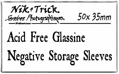 Negative Glassine Storage Sleeves 35mm - (Like Kenro but not as dear!)