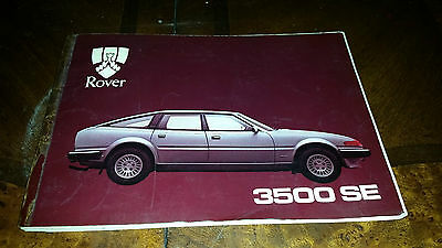 Rover 3500 SE owners handbook 1982