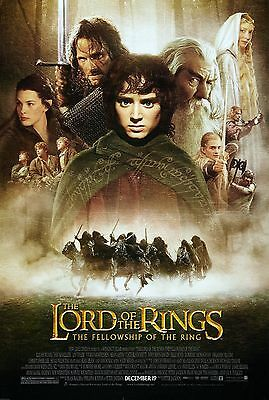 The Lord of the Rings: The Fellowship of the Ring 2001 Movie Silk Fabric Poster