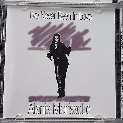 "Alanis Morissette ""ive Never Been In Love"" Pro Sourced Silver Disc- Brand New"