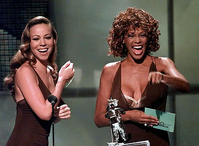 Whitney Houston & Mariah Carey Unsigned Photo - 7811 - Sexy!!!!!