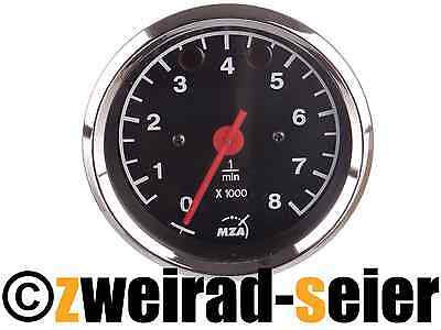 Tachometer Ø3 5/32in - Pilot Lights Red and Green - MZ ETZ125,150,250,251,301