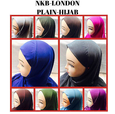 Muslim Ladies Children Kids Readymade Hijab Wrap Hijab  Scarf Plain Hijab Work