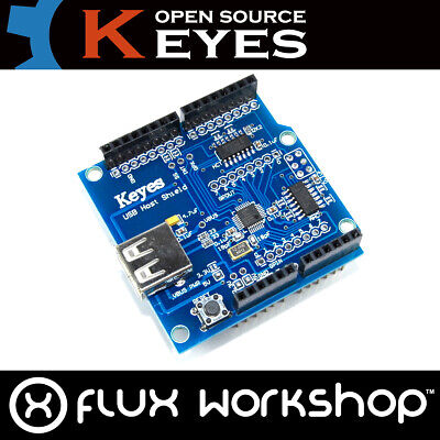Arduino UNO USB Host Genuine Keyes Shield ICSP Funduino Google ADK Flux Workshop