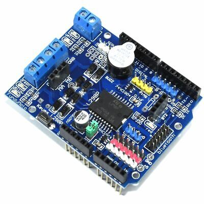 Arduino UNO L298P Motor Genuine Keyes Shield Buzzer H-Bridge 2A Flux Workshop