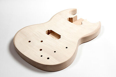 Cuerpo bajo SG Bass tilo - Basswood  flamed maple SG Bass electric bass body