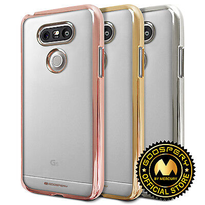 bdae2521e For LG G5 GOOSPERY® Ring 2 Jelly Slim Fit Clear TPU Bumper Case [Metallic