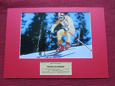 Franz Klammer Champion Skier Genuine Hand Signed A3 Mounted Photo Display - Coa