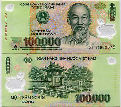 Vietnam Dong 100 000 X 1 Piece Pc Currency Vnd