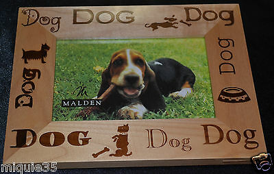 WOOD PICTURE FRAME 4x6  DOG THEME MALDEN TABLE TOP DECOR