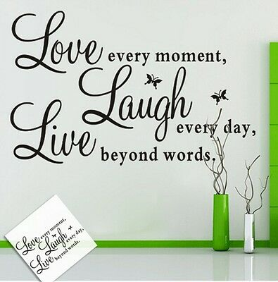 DIY Removable Wall Decal Art Word Wall Sticker Paper Stylush Wall Home Decals Q