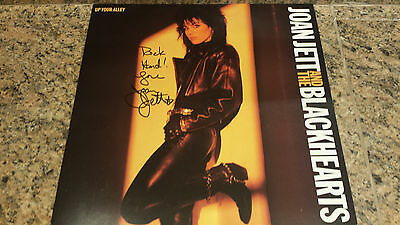 """* JOAN JETT * classic """"Up Your Alley"""" signed 12x12"""" album flat / UACC RD # 212"""