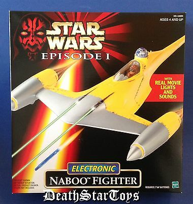 Star Wars Episode 1 The Phantom Menace Electronic Naboo Fighter TPM Anakin R2-D2