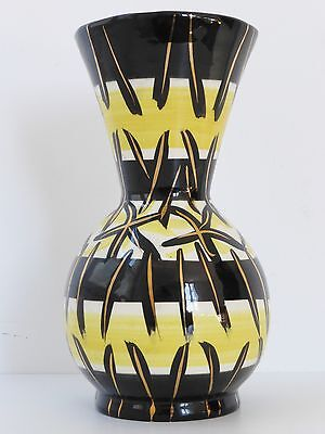 VALLAURIS FASE SIGNE MC :  GRAND VASE CERAMIQUE 1950 VINTAGE 50's CERAMIC