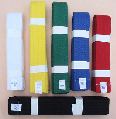 *SPECIAL*  ITF TAEKWONDO COLOUR BELTS - for Every Grade - Correct Lengths