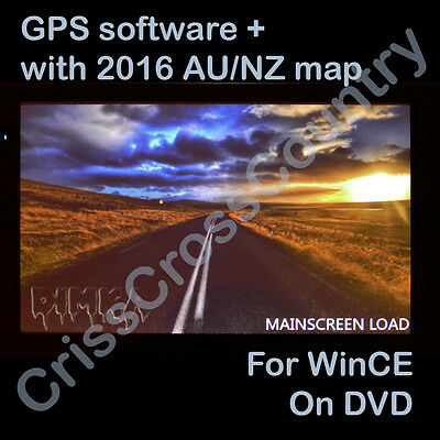 iGO 8.3 GPS SAT NAV for WinCE Software+2016 MAP AU NZ on DVD with 2 year update