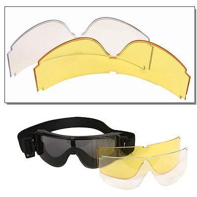 X800 Airsoft Tactical Clear Goggles/ Paintball Hunting Goggles/Army Eye protect