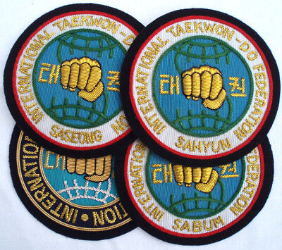 TAEKWONDO BLAZER BADGE - Official Jacket Patch for all Instructors and Students