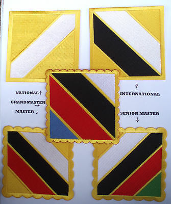 TAEKWONDO INSTRUCTOR EPAULETS - the Official Shoulder Badge / Patch / for Doboks