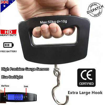 50KG Electronic Portable Digital Luggage Scale Handheld Travel Suitcase Weighing