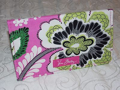 Vera Bradley Checkbook Cover Floral Slim Wallet in Priscilla Pink Free Shipping