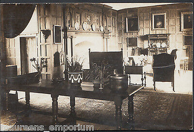 Unknown County Postcard - Real Photo of Grand House Interior  RT780