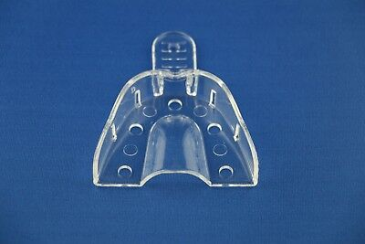 Small Upper 12 Crystal Clear Thermoplastic Disposable Dental Impression Trays.