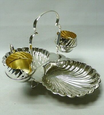 Antique Silver Plated Strawberry Set 1900 stock id 7834
