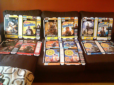 Rare Post Cereal Canada Star Wars Boxes all 7 NEVER USED