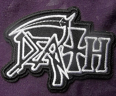 Death Band Patch Heavy Metal Embroidered Patch Biker Punk Diy