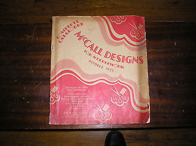 McCall Designs Complete Catalogue October 1935