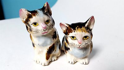 Vintage Cats Salt & Pepper Shakers Set Kittens Japan