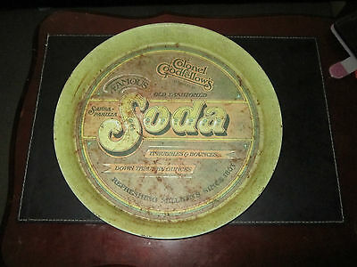 Rare Vintage Collectible Colonel Goodfellows Soda Drink Pub Tray