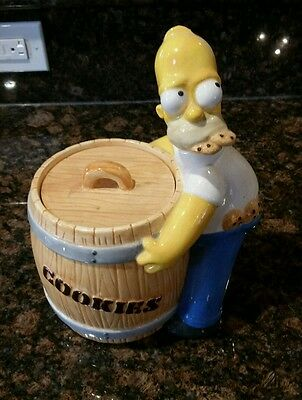 The Simpsons Rare Homer Simpson Cookie Jar Collectible by Treasure Craft